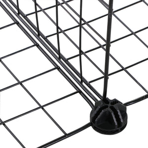 Discover the best genenic 12 cube closet organizer garage storage racks sets shelf cabinet wire grids panels and units for books plants toys shoes clothes stainless steel black