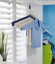 Load image into Gallery viewer, Purchase the laundry butler clothes drying rack hangers for laundry 5 extendable cascading hangers accessories for draping flat drying line drying of clothes and laundry laundry room deluxe
