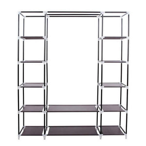 Buy now amashion 69 5 tier portable clothes closet wardrobe storage organizer with non woven fabric quick and easy to assemble dark brown