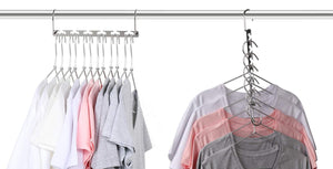 Save on magicool 20 pack metal wonder magic cascading hanger space saving hangers closet organizers suit for shirt pant clothes hangers space saving