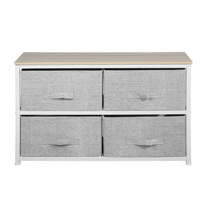 Top rated aingoo dresser storage 4 drawers storage bedroom steel frame fabric wide dressers drawers for clothes grey wood board 2x2 drawers grey