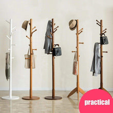 Load image into Gallery viewer, Storage sweet honey cloth hanger rack stand tree hat hanger holder free standing solid wood coat rack floor hanger for bedroom living room hall 10 hooks r 47x175cm19x69inch