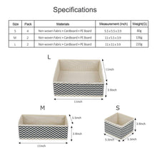Load image into Gallery viewer, Try dresser drawer organizer 8 pcs foldable storage box fabric closet storage cubes clothes storage bins drawer dividers storage baskets for bras socks underwear accessories home office bedroom