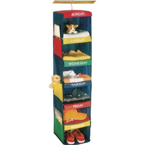 Innovative Home Creations Days of the Week Closet Organizer for Kids w/ Colorful Labeled Compartments