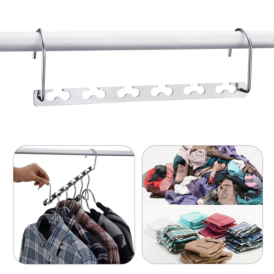 DOIOWN Space Saving Hangers 4 Pack Closet Organizer Hanger Stainless Steel Clothing Hangers (4 Pack)