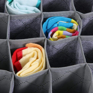 Great livingbox bamboo charcoal foldable drawer dividers socks organizer 30 cell storage box for storing baby clothes socks underwear handkerchiefs scarf glove ties