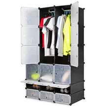 Load image into Gallery viewer, Try honey home diy modular shelving storage organizer 18 cube extra large portable wardrobe with clothes rod 12 cubes organizing cabinet 6 cubes shoe rack