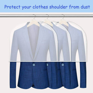 Online shopping keegh garment shoulder covers bagset of 12 breathable closet suit organizer prevent clothes shoulder from dust 2 gusset hold more coats jackets dress