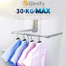 Load image into Gallery viewer, Best seller  gimify pull down closet rod wardrobe lift organizer storage systerm hanger rod for hanging clothes space saving aluminum adjustable 32 68 42 28inch