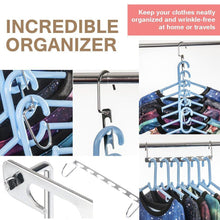 Load image into Gallery viewer, Best 4pcs clothes hangers space saver closet organizer with vertical and horizontal options premium abs material in solid silver color