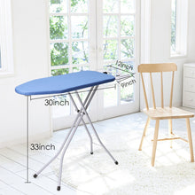 Load image into Gallery viewer, Results king do way ironing board 39 l x 12w x 33h opensize 4 leg table for ironing clothes tabletop ironing board with iron rest wide top iron board design