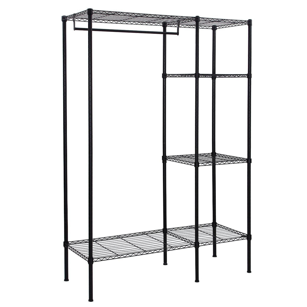 Top songmics extra large shelving garment rack heavy duty portable clothes wardrobe free standing closet storage organizer ulgr12p