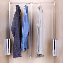 Load image into Gallery viewer, Buy gimify pull down closet rod wardrobe lift organizer storage systerm hanger rod for hanging clothes space saving aluminum adjustable 32 68 42 28inch
