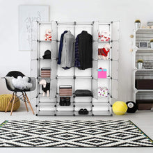 Load image into Gallery viewer, Save on tangkula portable clothes closet wardrobe bedroom armoire diy storage organizer closet with doors 16 cubes and 8 shoe racks