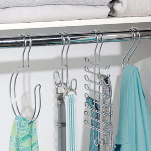 InterDesign Classico Vertical Closet Organizer Rack for Ties, Belts - Chrome (06560)