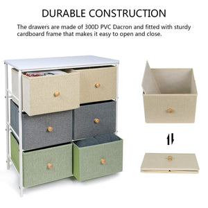 The best lifewit small storage drawer unit with metal frame for children small clothes organizer with wooden tabletop for livingroom bedroom cabinet with 6 easy pull fabric drawers 3 tier