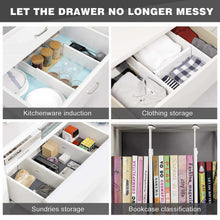 Load image into Gallery viewer, Latest favonian drawer dividers clothes divider multifunction dresser organizer spice organizers adjustable expandable rack for kitchen desk cabinet storage wardrobe clothing arrange 3 pcs pack
