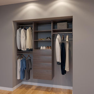 Modular Closets 5.5 FT Closet Organizer System - 66 inch - Style G