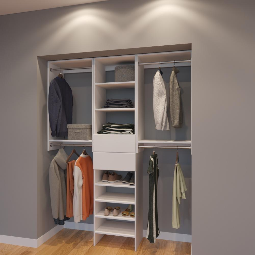 Modular Closets 5.5 FT Closet Organizer System - 66 inch - Style A