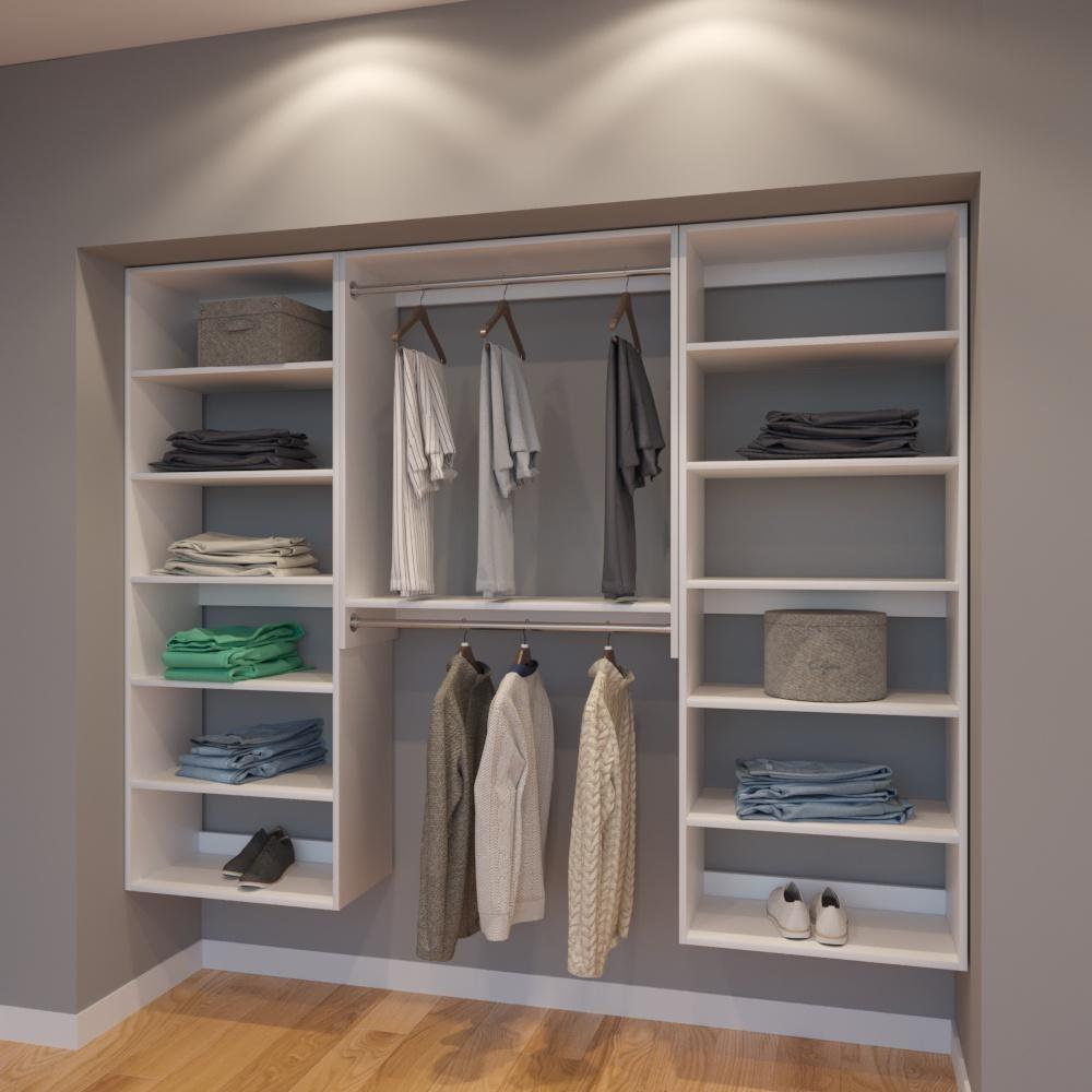 Modular Closets 7.5 FT Closet Organizer System - 90 inch - Style A
