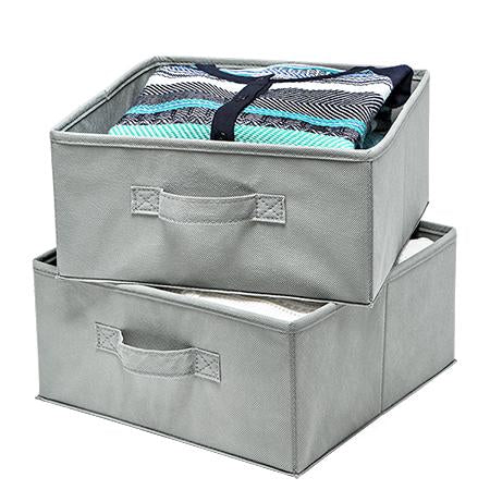 2-Pack Storage Drawers, Gray