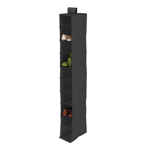 10-Tier Hanging Closet Organizer, Black