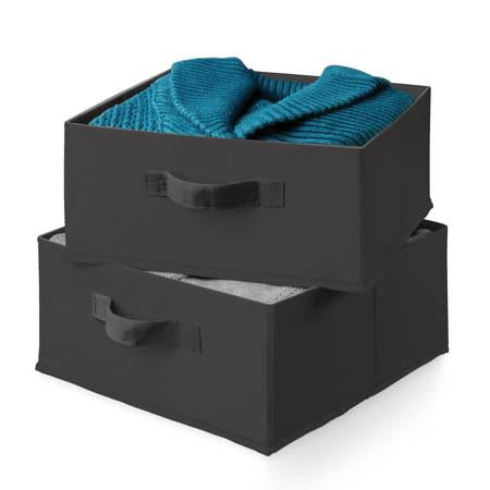 2-pack Storage Drawers- black