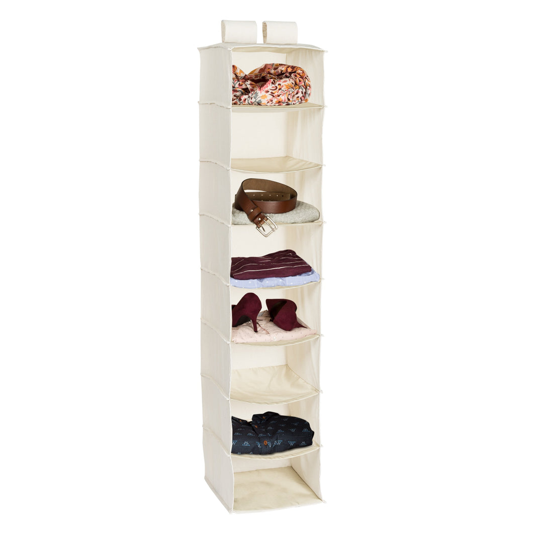 8 shelf hang organizer- canvas