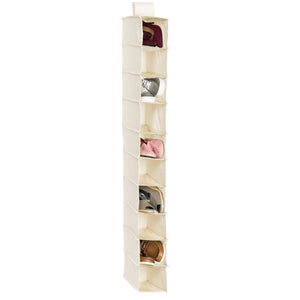 10-Tier Hanging Shoe Shelf, Canvas