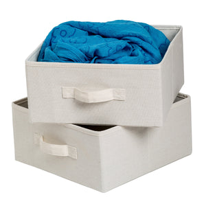 2-Pack Storage Drawers, Canvas