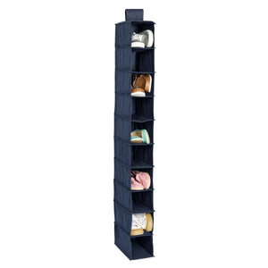 10-Shelf Hanging Closet Organizer, Navy