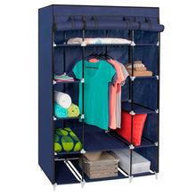 Load image into Gallery viewer, 13-Shelf Closet Organizer w/ Fabric Cover & Hanging Rod