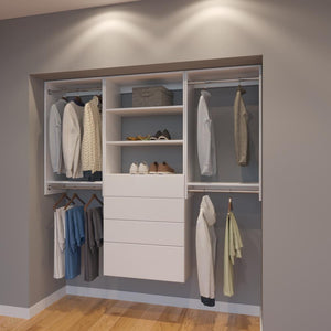 Modular Closets 6.5 ft Closet Organizer System - 78 inch - Style A