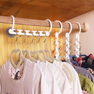 1PCS 3D Space Saving Hanger Magic Clothes Hanger with Hook Closet Organizer Home Tool