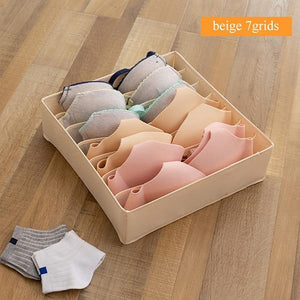Dormitory closet organizer for socks underwear bra foldable drawer organizer