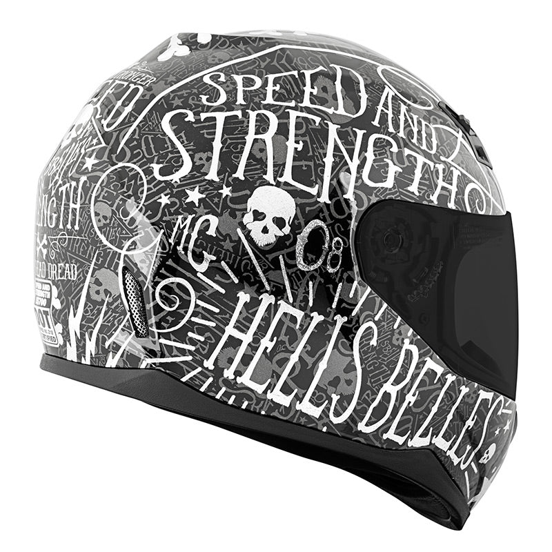 Speed and Strength Women/'s SS700 Hell/'s Belles Motorcycle Helmet All Sizes