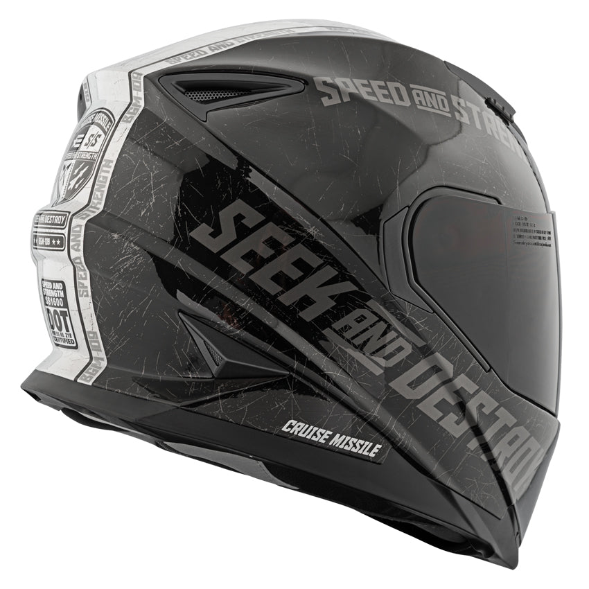 CRUISE MISSILE™ SS1600 HELMET GLOSSY BLACK/SILVER