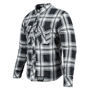 RUST AND REDEMPTION™ ARMORED MOTO SHIRT FRNT GRY