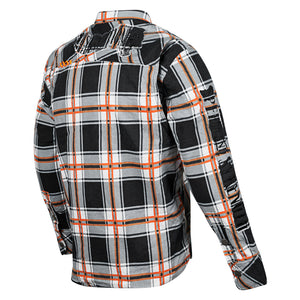 RUST AND REDEMPTION™ ARMORED MOTO SHIRT BACK ORNG
