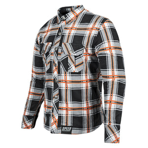 RUST AND REDEMPTION™ ARMORED MOTO SHIRT FRNT ORNG