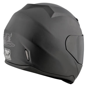 SOLID SPEED™ SS700 HELMET MATTE BLACK BACK