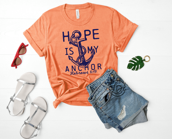 HOPE IS MY ANCHOR GRAPHIC TEE