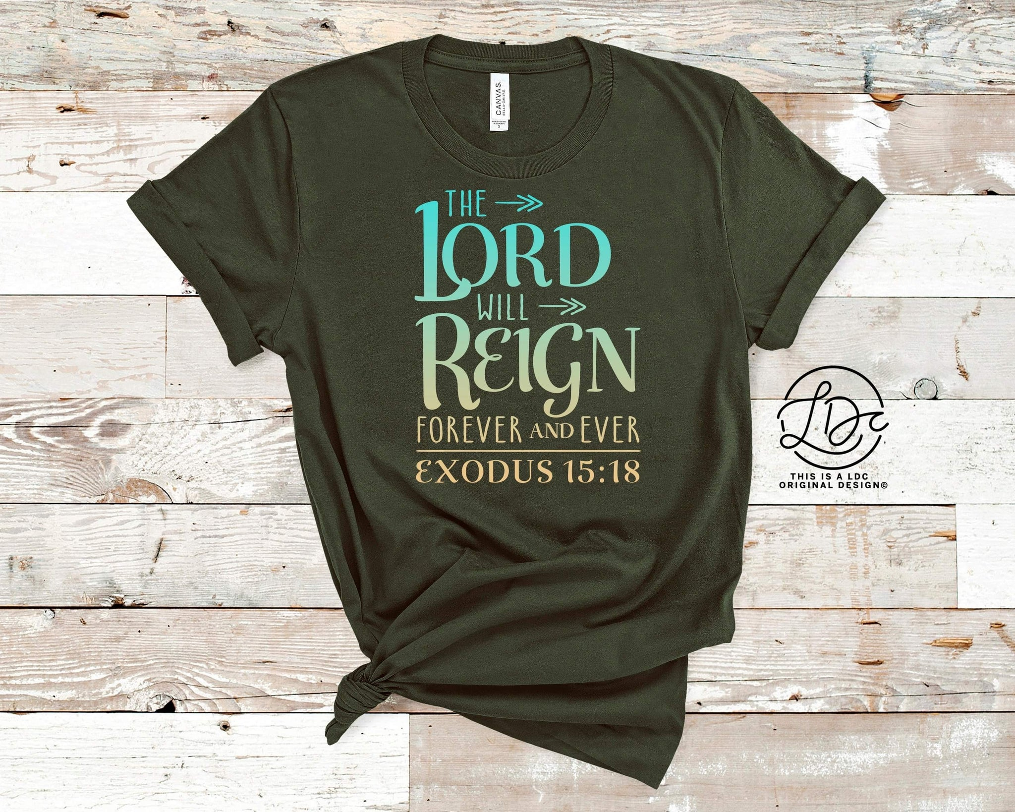 LORD WILL REIGN   {Soft / High Heat} - Single Transfer