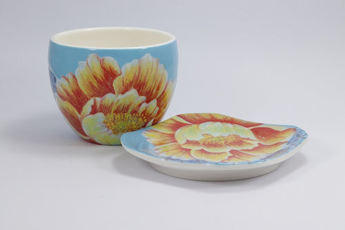 Floral Cup and Plate
