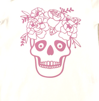 Flower skull t shirts / bodysuits