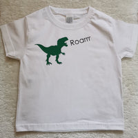 Dino personalised t shirt - Names or Roarrr