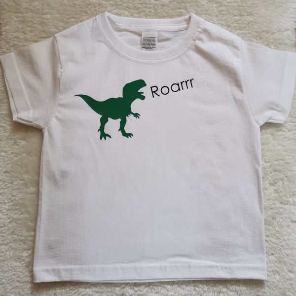 Dino personalised bodysuits & t shirt - Names or Roarrr