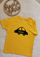 Car personalised bodysuits & t shirts