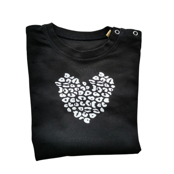 Leopard heart t shirts