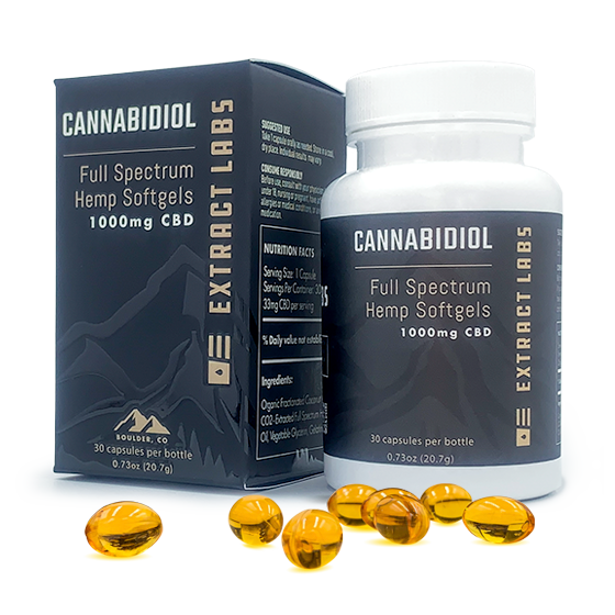 Extract Labs Full Spectrum CBD Capsules